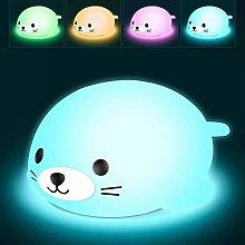 HBBOOI LED Silicone Night Light Colorful Creative