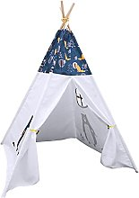 HBCELY Teepee Tent For Kids Natural Cotton Canvas