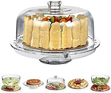 HBlife 6 in 1 Acrylic Food Dome, Multifunctional