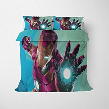 Hbvvaceo® Duvet Cover and Pillowcase 3D Red movie