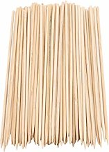 HBWHY 100 Pieces Barbecue Bamboo Skewers BBQ