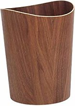 HBXHN Trash can Wood Trash Can Wastebasket for