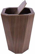 HBXHN Trash can Wood Wastebasket, Trash Can for