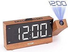 HCCTOZZ Alarm Clock, LED Radio Projection Alarm