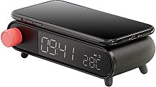 HCCTOZZ Alarm Clock with Wireless Charging,