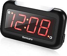 HCCTOZZ LED Digital Alarm Clock with Night Light,