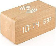 HCCTOZZ LED Digital Clock, Snooze Alarm Clock,