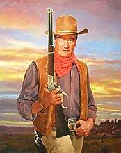 HCDZF DIY digital paintings western cowboy John