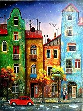 HCDZF Paint by Number Kits Canvas DIY Oil Painting
