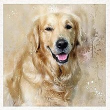 HCDZF Paint by Numbers for Adults Golden Retriever