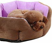 HCMNME Creative Dog Cat Cuddler Kennel Round Soft