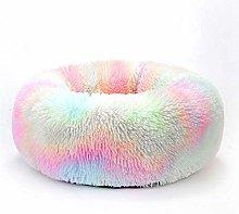 HCMNME Deluxe Soft Cat Bed, Dog Bedding Donut Dog