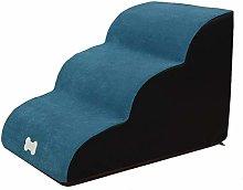 HCMNME Deluxe Soft Cat Bed, Dog Steps Pet Ramp