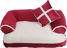 HCMNME Deluxe Soft Dog Pet Bed, Pet Dog Sofa Beds