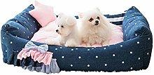 HCMNME Dog Kennel Cat Nest Pet Bed, Super Soft Pet