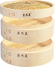 Hcooker 2 Tier Kitchen Bamboo Steamer Basket for