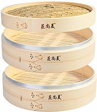 Hcooker 2 Tier Kitchen Bamboo Steamer with