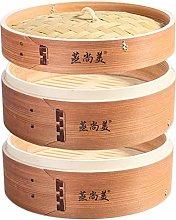 Hcooker 2 Tier Kitchen Wood Steamer Basket for