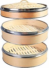 Hcooker 2 Tier Kitchen Wood Steamer with Double