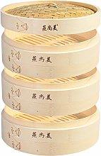 Hcooker 3 Tier Kitchen Bamboo Steamer Basket for
