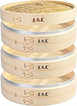 Hcooker 3 Tier Kitchen Bamboo Steamer with