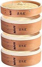 Hcooker 3 Tier Kitchen Wood Steamer Basket for