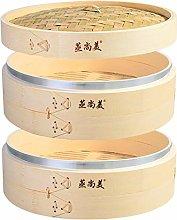Hcooker Deepen 2 Tier Kitchen Bamboo Steamer with