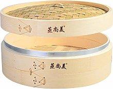 Hcooker Deepen One Tier Kitchen Bamboo Steamer