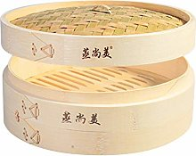 Hcooker One Tier Kitchen Bamboo Steamer Basket for