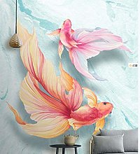 Hd Hand Painted Guppy Background Wall Decoration