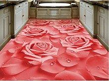 HD Warm Wallpaper 3D Flooring Rose Flower