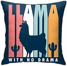 Hdadwy Alpaca with No Drama Throw Pillow Cover