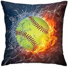 Hdadwy Beisbol Pillowcases Sofa Home Decor 18¡±X