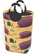 Hdadwy Cartoon Hedgehog 50L Large Laundry Basket