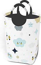 Hdadwy Cartoon Moon 50L Large Laundry Basket with