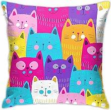 Hdadwy Cats Hidden Zipper Home Sofa Decorative