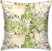 Hdadwy Cherry with Leaves Throw Pillow Cover