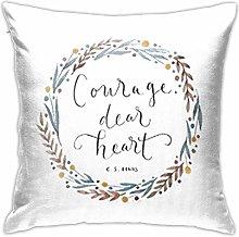 Hdadwy Courage Dear Heart Canvas Pillowcases Sofa