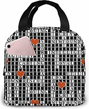 Hdadwy Crossword Puzzle Portable Insulated Lunch