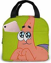 Hdadwy Cute Patrick Star Insulated Lunch Box Bag