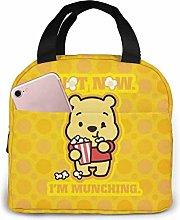 Hdadwy Cute Winnie The Pooh Insulated Lunch Box