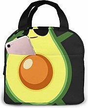 Hdadwy Dabbing Avocado Insulated Lunch Bag Bento