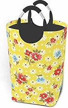 Hdadwy Daisy Print 50L Large Laundry Basket with