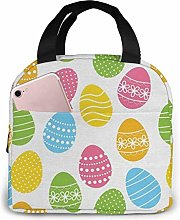 Hdadwy Easter Egg Insulated Lunch Bag Bento Lunch