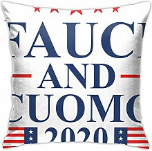 Hdadwy Fauci and Cuomo 2020 Throw Pillow Covers,
