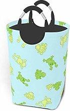Hdadwy Frog Background 50L Large Laundry Basket