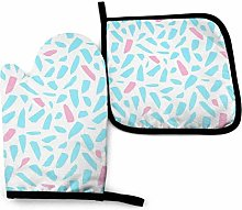 Hdadwy Funky Paint Brush Kitchen Oven Mitts and