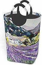 Hdadwy Lavender Field 50L Large Laundry Basket