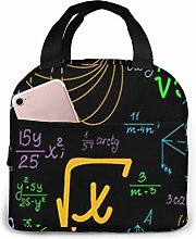 Hdadwy Math Problem Images Reusable Lunch Box,