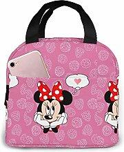 Hdadwy Minnie Loving Insulated Lunch Box Bag